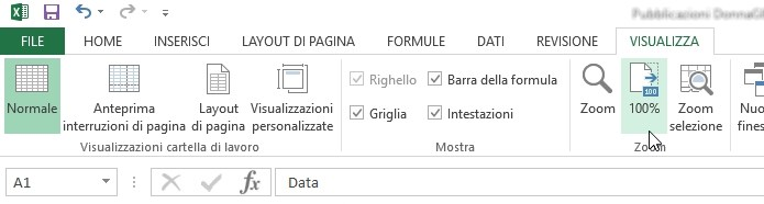 Excel ridimensiona 2
