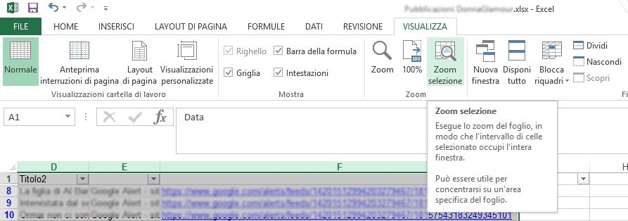 Excel ridimensiona 3
