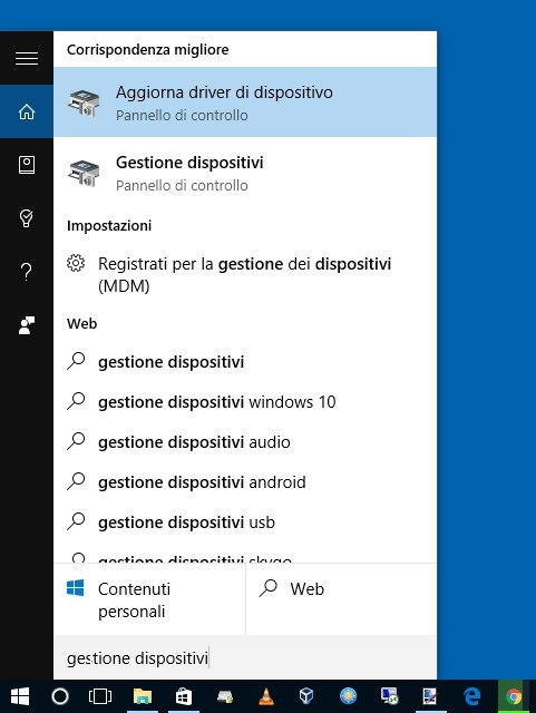Apriamo una sezione specifica del Pannello di Controllo in Windows 10 usando Cortana