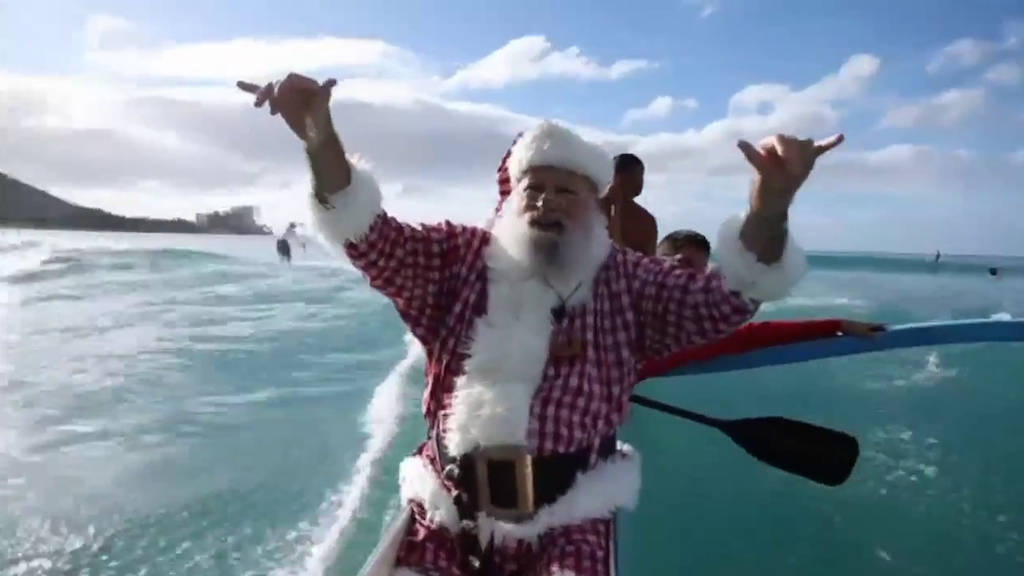Babbo Natale in vacanza alle Hawaii - VIDEO