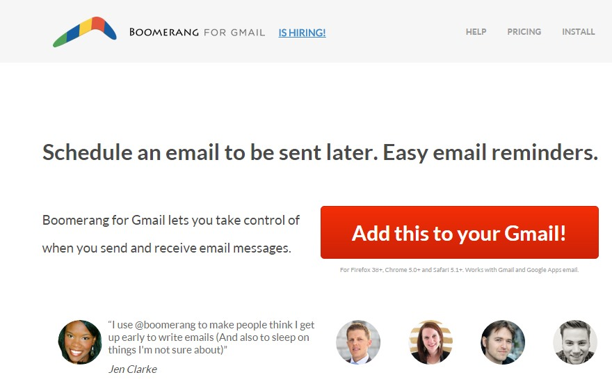 Installiamo Boomerang for Gmail