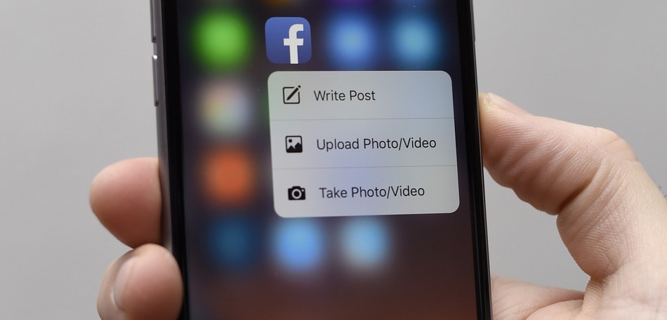 Facebook 3D touch cover