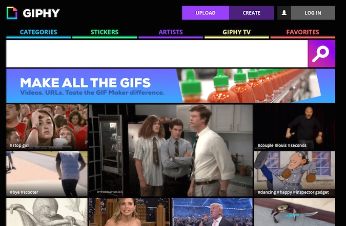 Giphy sito gif animate cover