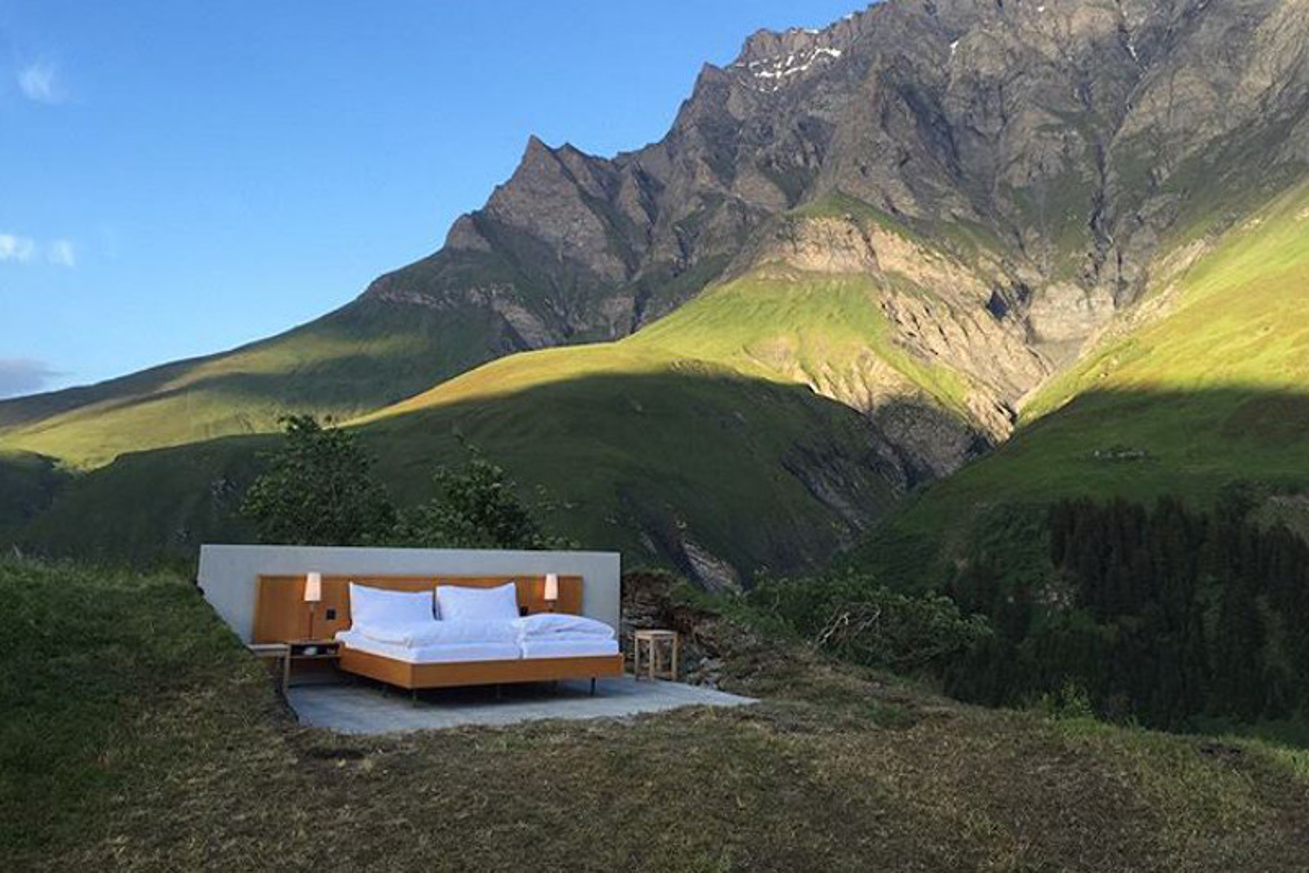 In Svizzera il Null Stern Hotel, l'hotel senza pareti