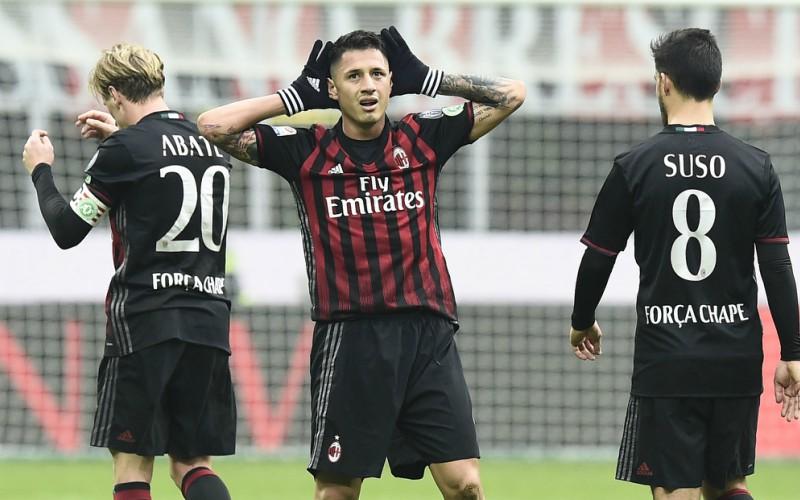 Gianluca Lapadula Milan 2016-17