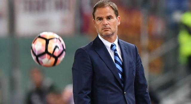 """De Boer: """" Abbiamo avuto solo tre mesi ma, onestamente, e' sembrato un anno"""""""