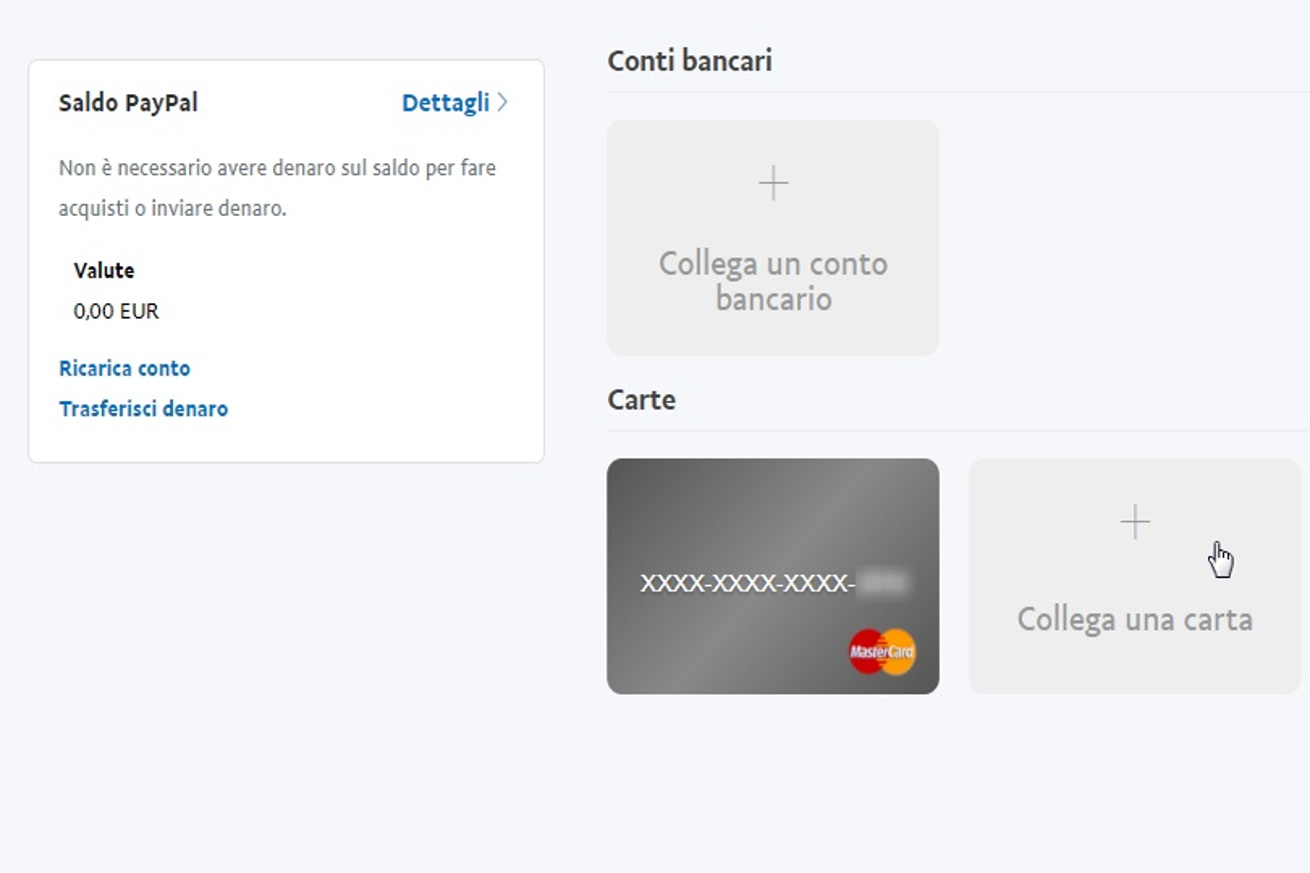 ricaricare paypal con bancomat