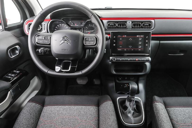 Gli interni della Citroen nuova C3