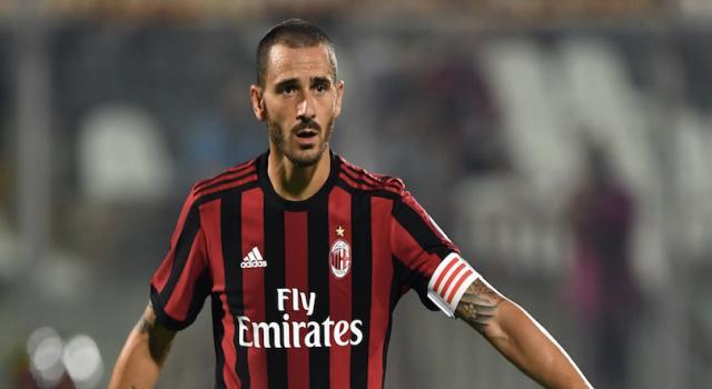 Caso Bonucci, il Milan annuncia la risposta del giocatore poi cancella il messaggio