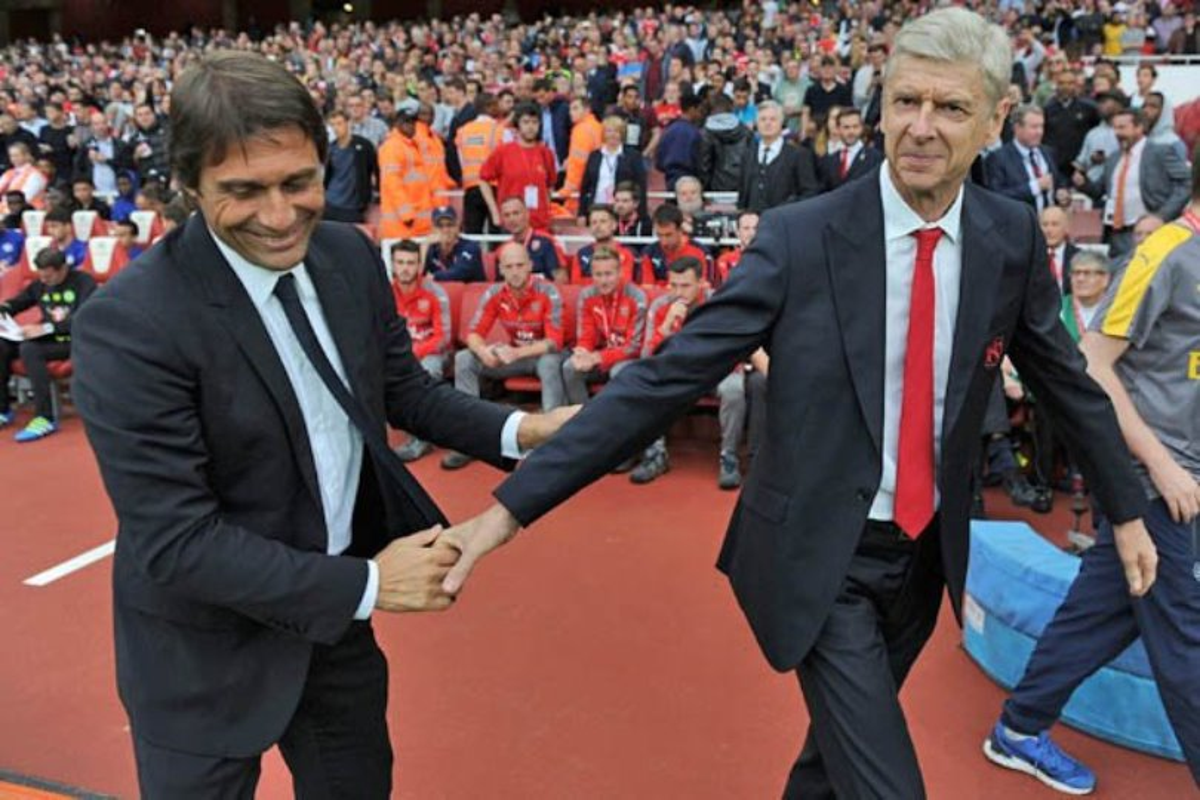Antonio Conte e Arsene Wenger Arsenal-Milan
