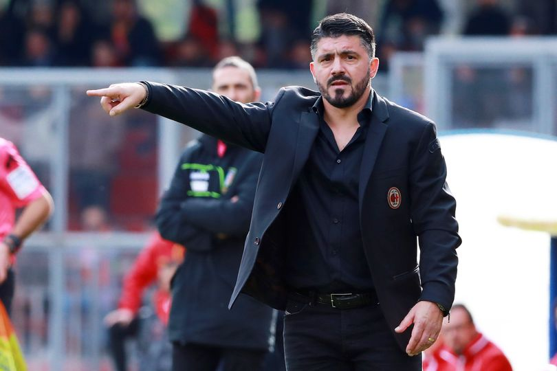 conferenza stampa Gennaro Gattuso Milan-Lazio Arsenal-Milan Milan-Benevento Edin Dzeko