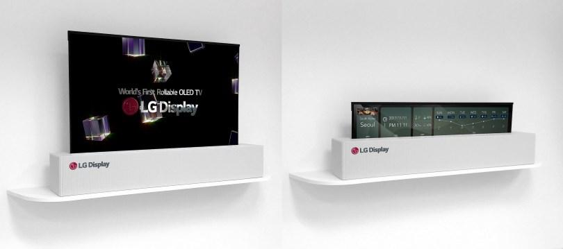 La TV arrotolabile di LG