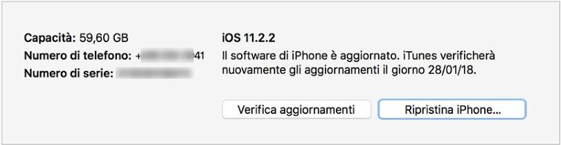 iPhone non si accende aggiornamento
