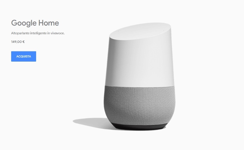 Google Home in Italia