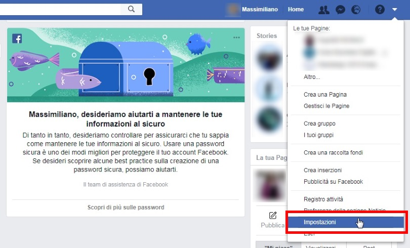 Privacy Facebook percorso