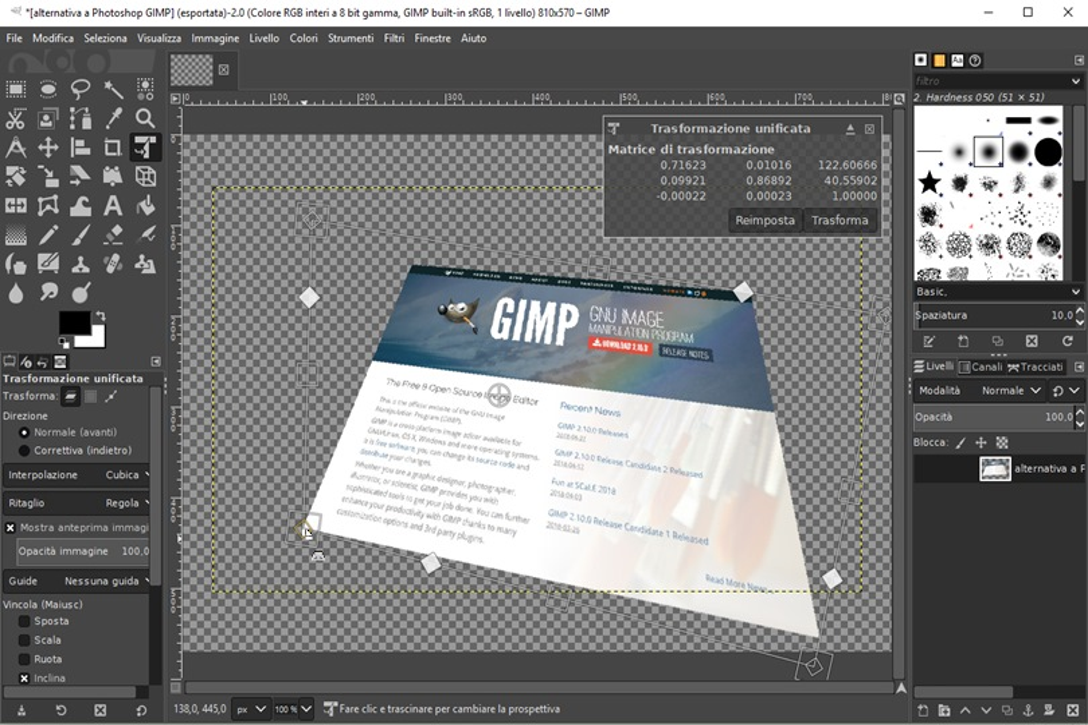 GIMP strumenti