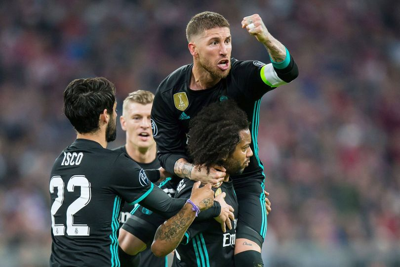 SERGIO RAMOS MARCELO REAL MADRID