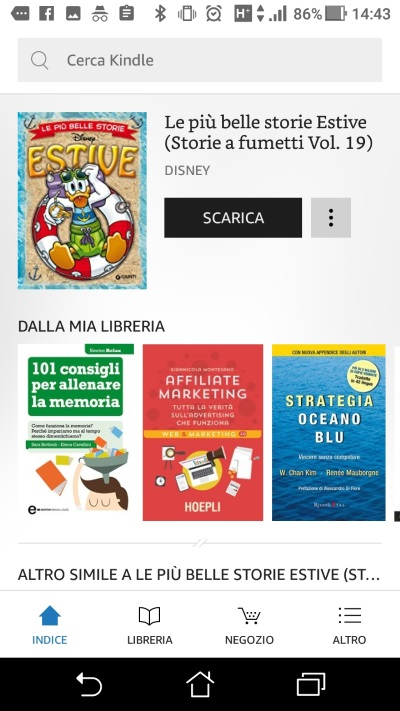 Prime Reading libreria app Kindle