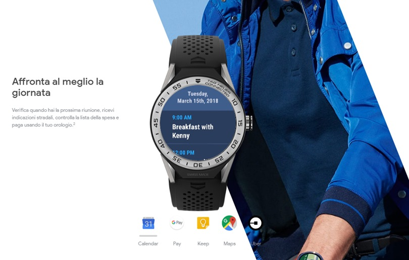 Wear OS smartwatch mappa
