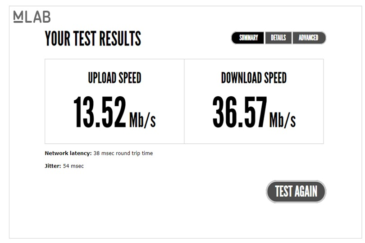 velocità adsl misura MLAB