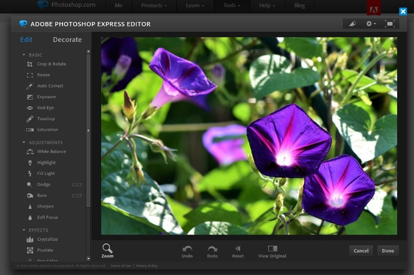 Photoshop gratis photoshop express online modifica