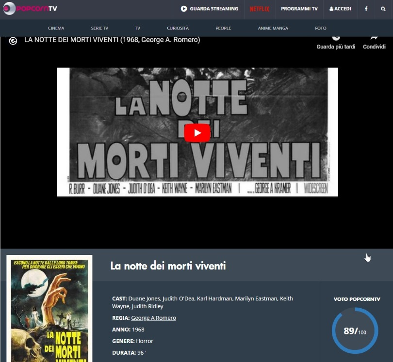 Film in streaming gratis senza registrazione PopcornTv visualizza