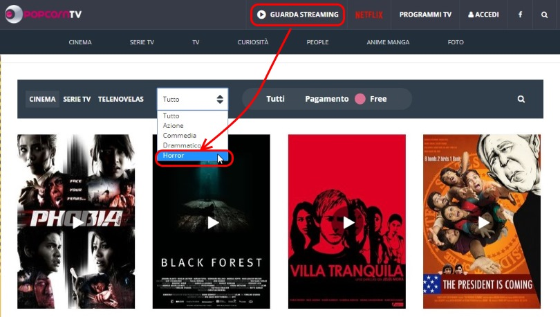 Film in streaming gratis senza registrazione PopcornTv