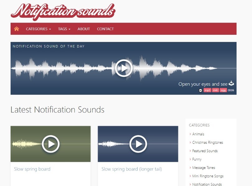 suonerie gratis notification sounds