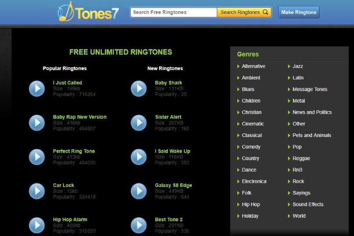 suonerie gratis tones7