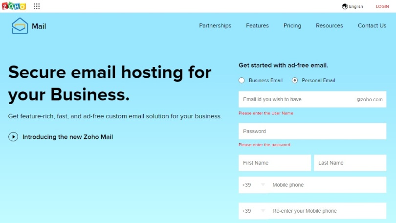 email gratis Zoho Mail
