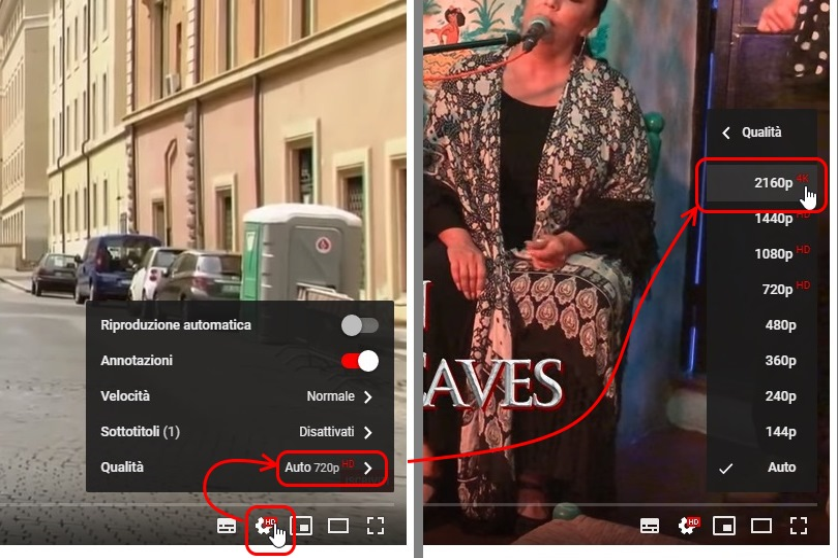youtube desktop qualità video HDR