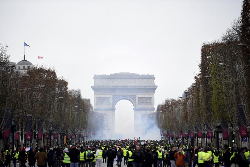 Protesta dei gilet gialli in Francia
