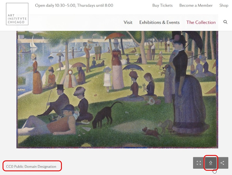 Opere d'arte sito The Art Institute of Chicago download
