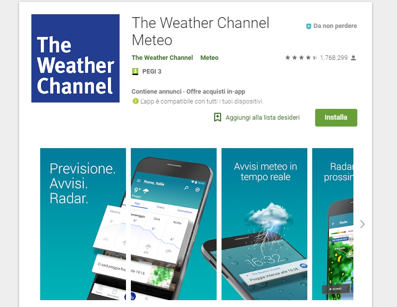 widget meteo android the weather channel meteo