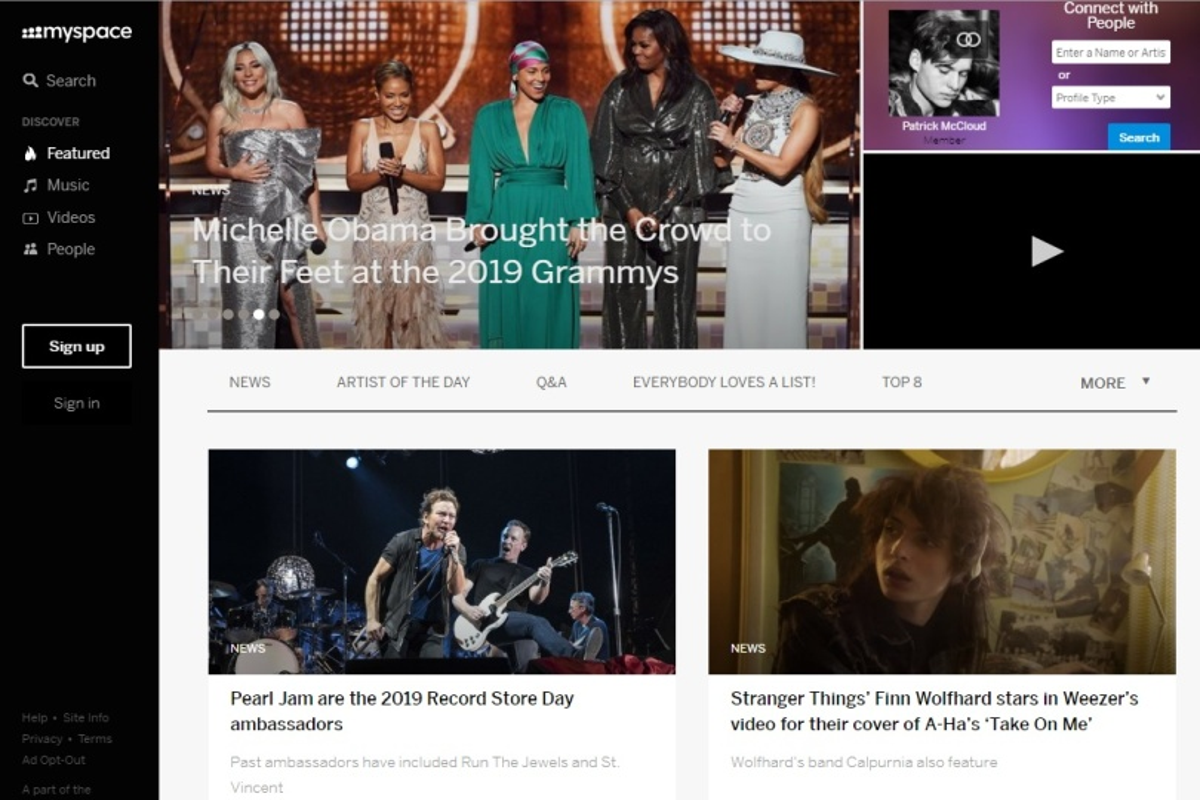 Ascoltare musica gratis Myspace