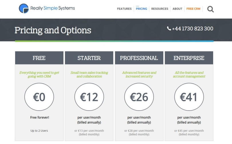 CRM gratis really simple systems