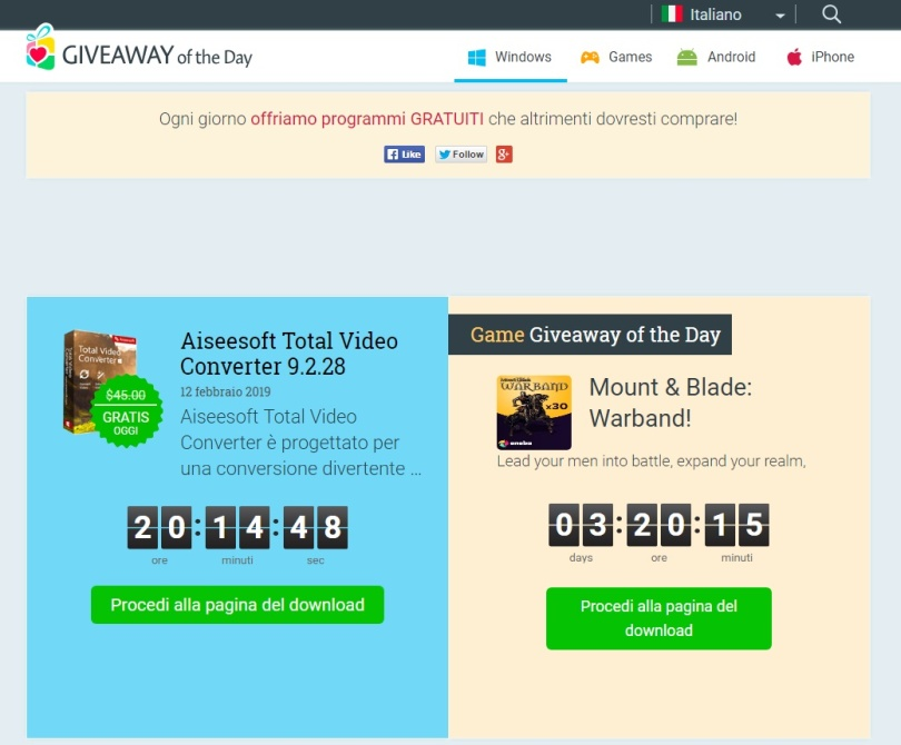 Software gratis Giveaway of the Day