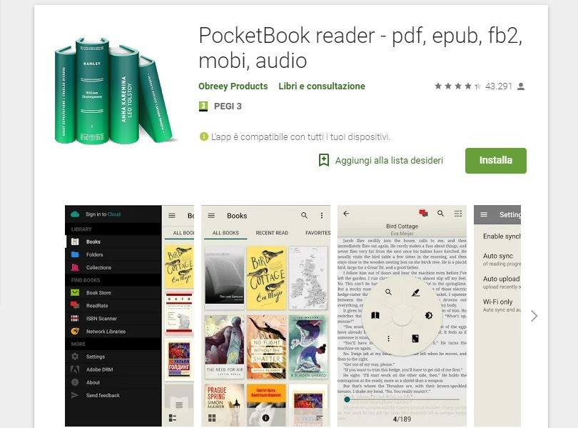 modificare PDF Android Pocketbook Reader