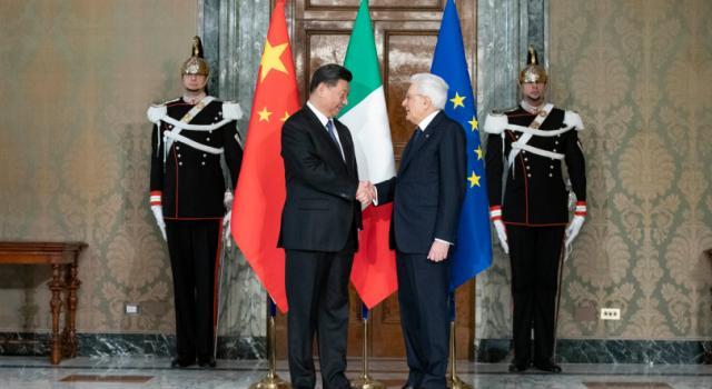 Mattarella e Xi Jinping