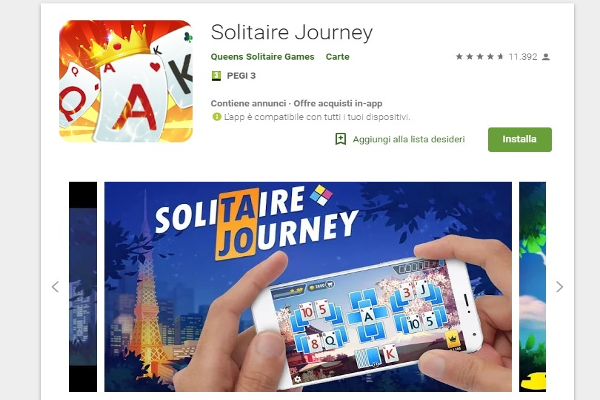 Solitario gratis Solitaire Journey