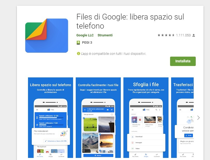 Telefono lento Files di google