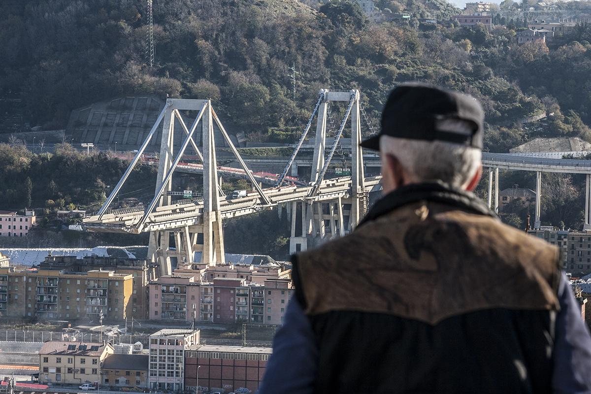 veduta del ponte morandi