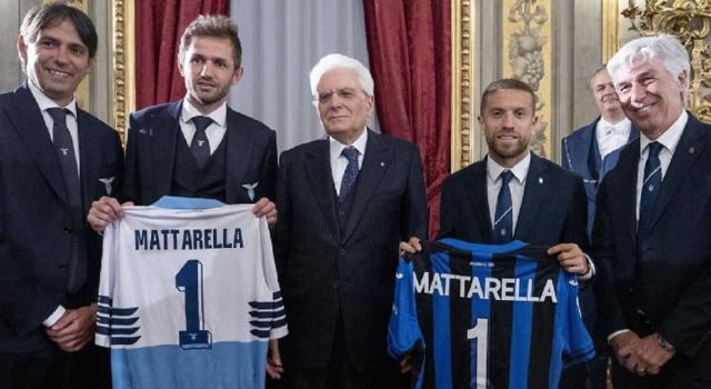 Finale Coppa Italia, Atalanta e Lazio dal presidente Mattarella