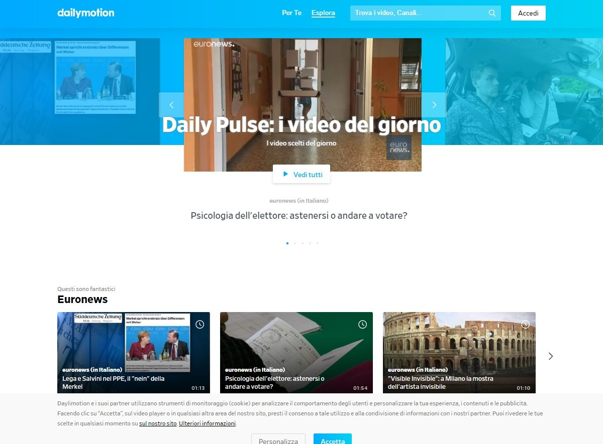 Dailymotion sito video