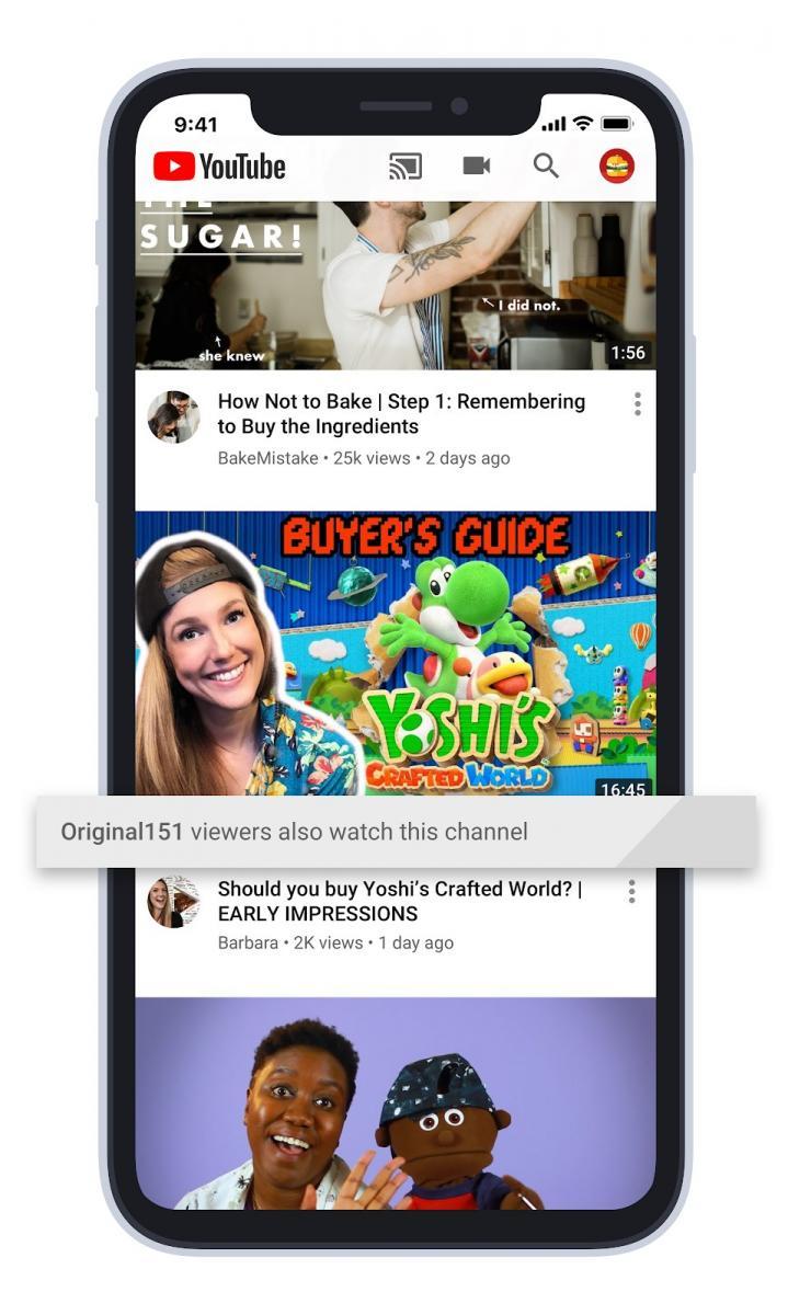 indicazione video suggeriti YouTube