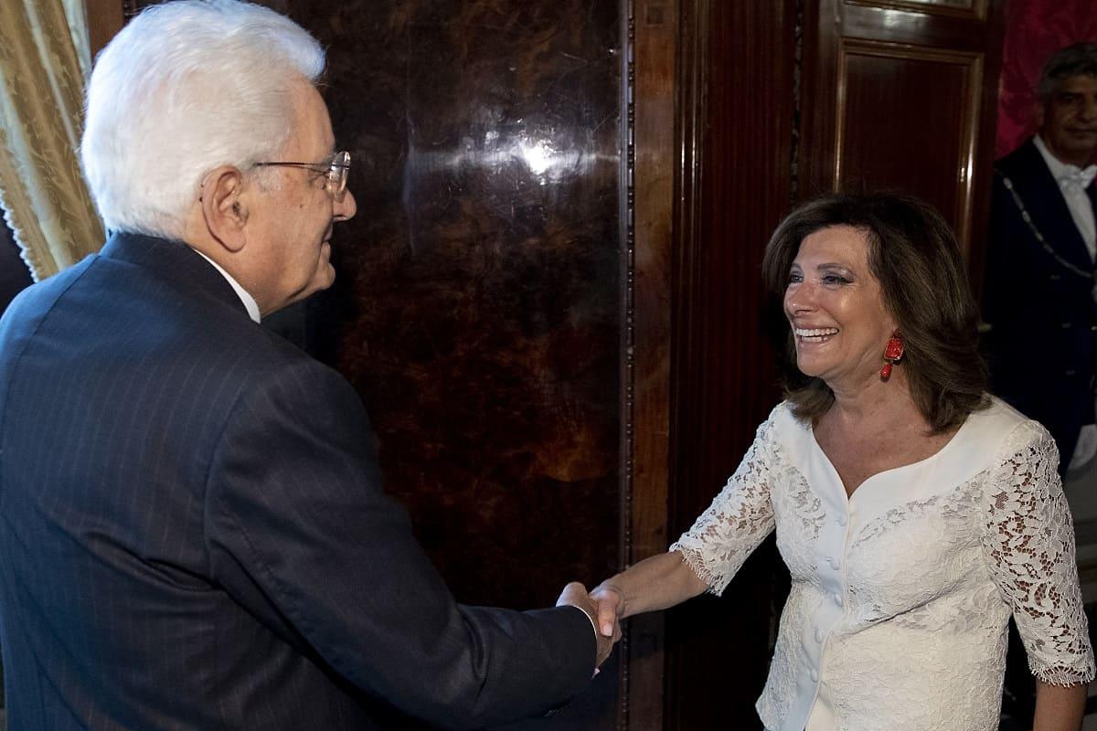 Sergio Mattarella e Elisabetta Casellati