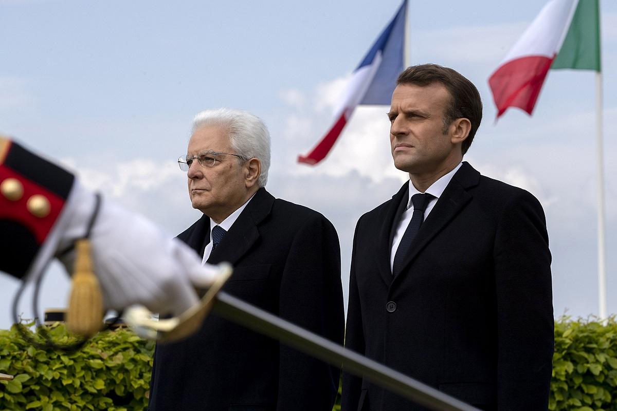 Sergio Mattarella ed Emmanuel Macron