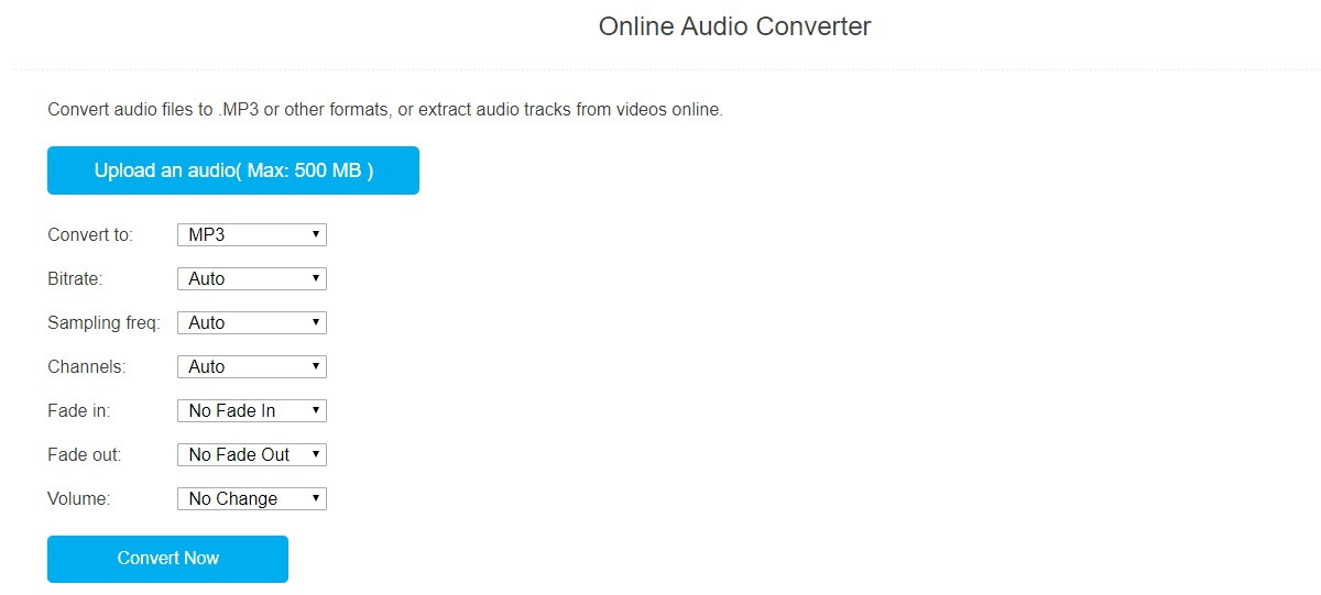 Convertire audio mp3 convertaudio
