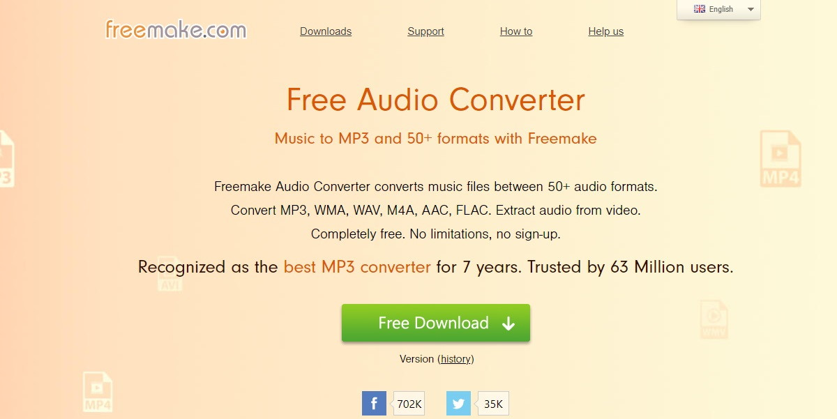 Convertitore audio Freemake Free Audio Converter