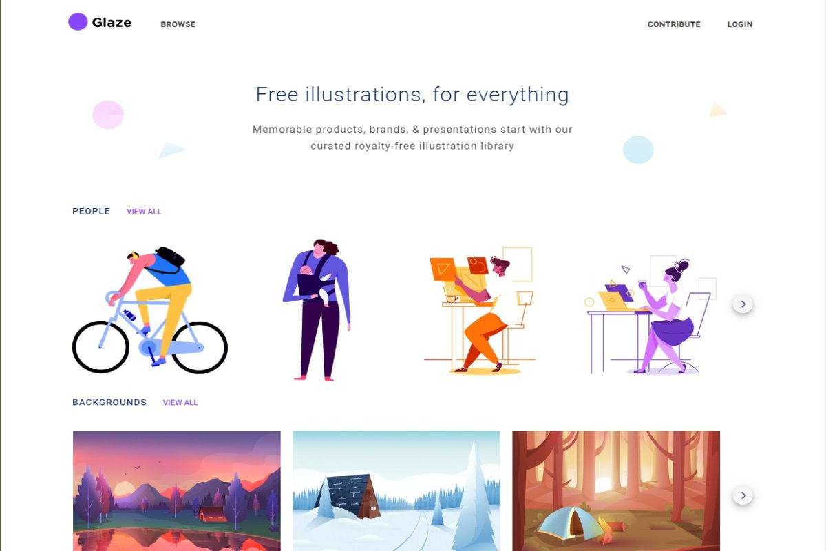 Glaze illustrazioni gratis